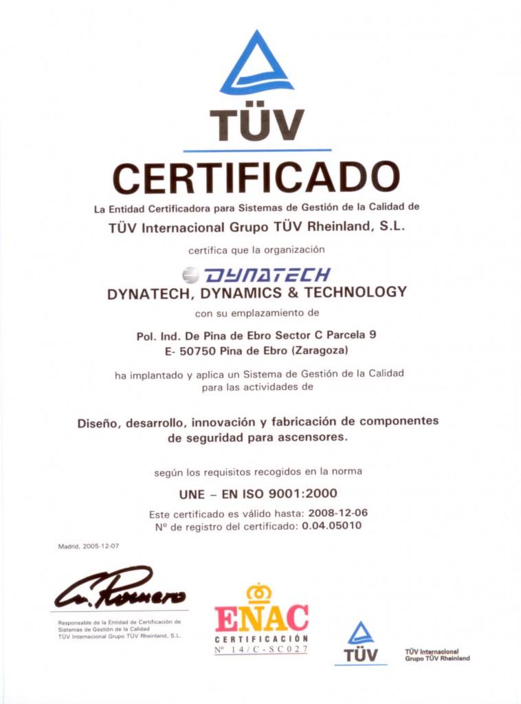 Certificado Español