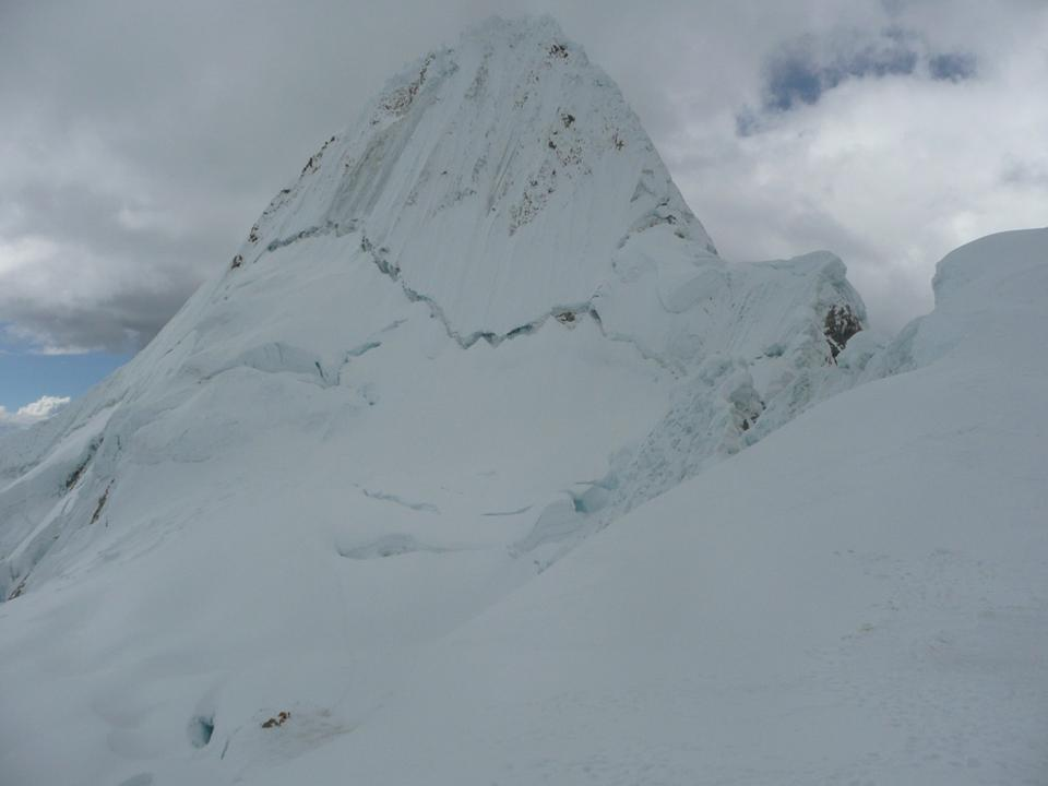 VIEW OF THE ALPAMAYO SUMMIT (5.947 m)