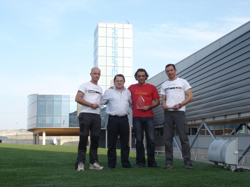 De izquierda a derecha: Adrián Uclés, Francisco Mateo, Carlos Pauner, Raúl Martínez.
