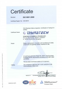 ISO Certificate 9001-2008 ENG
